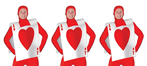 Playing Card Costume (Beistle 60042 3 Piece Plastic Card