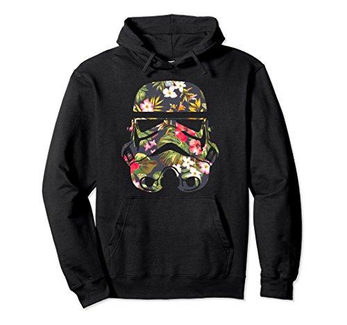 Unisex Star Wars Tropical Stormtrooper Floral Print Hoodie Small (Trooper Sweatshirt)