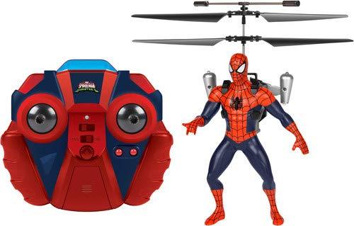World Tech Toys Marvel UltimateスパイダーマンvsシニスターシックスJetpack RCヘリコプター None 34878 B003VZP3DK レッド None