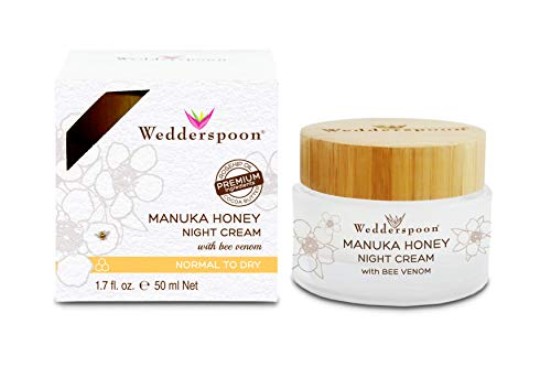 - Wedderspoon Manuka Honey Night Cream with Bee Venom, 1.7 Ounce