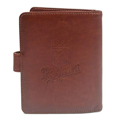 (MLB Brown Passport Holder Case with RFID Blocking for Women & Men - Kansas City Royals)