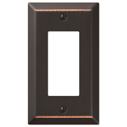 Single GFCI Rocker 1-Gang Decora Wall Switch Plate, Oil Rubbed Bronze