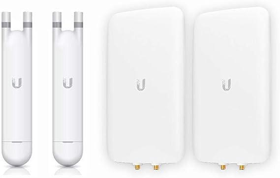 UniFi Ap Mesh UAP-AC-M-US Punto de Acceso de Doble Banda (2 Unidades) + Antena direccional de Banda Dual UMA-D (Paquete de 2)