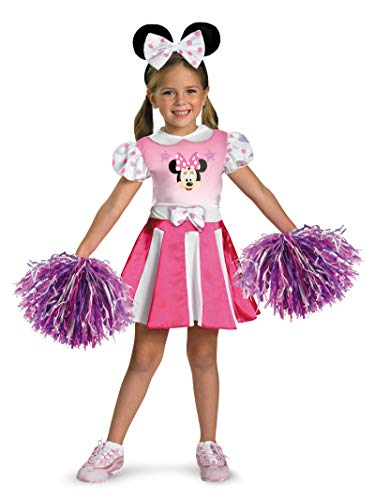 Disney Mickey Mouse Clubhouse Minnie Mouse Cheerleader Girls Costume, Medium/7-8]()