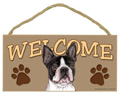 SJT ENTERPRISES, INC. Boston Terrier Welcome Sign 5