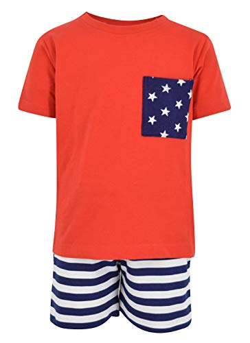 Unique Baby Boys Patriotic 4th of July 2-Piece Summer Outfit (4t, - Outfit 2 Holiday Piece