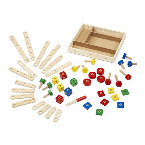 Melissa & Doug Wooden Construction Building Set in a Box (48 pcs) ()