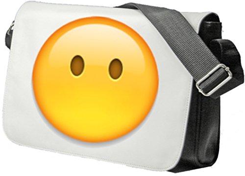 """Schultertasche """"Gesicht ohne Mund"""" Schultasche, Sidebag, Handtasche, Sporttasche, Fitness, Rucksack, Emoji, Smiley"""