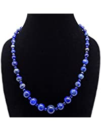 Handmade Natural Gemstone Beads 4~12mm Graduated Adjustable Necklace Healing