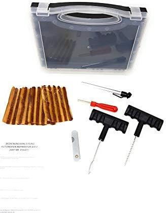 Toolzy 100811 26 Tlg Reifenreparatur Set Reifen Reparatur Pannenset Vulkanisiert Streifen Baumarkt