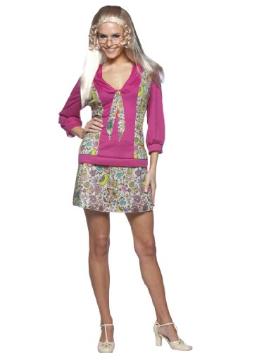 Jan Brady Bunch Costume Dress Short Sexy Floral Skirt Womens Theatrical Costume (70s Tv Characters)