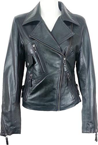 le Rel GA Biker cuir Mode veste UNICORN Femmes Style Noir qOwt6AXZnx
