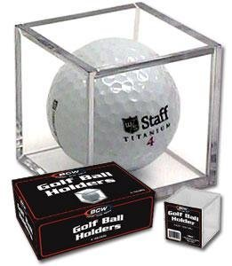 BCW Golf Ball Square - Holder & Display Case (Box of 6 - Ball Golf Case Display Glass