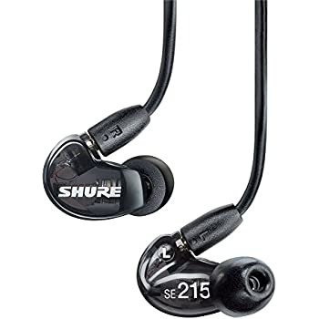 Shure SE215-K Sound Isolating Earphones with Single Dynamic MicroDriver