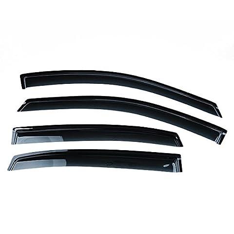 Hot Smoke Side Window Visor Rain Sun Guard Vent Set For 2006-2011 CHEVY IMPALA - Impala Vent