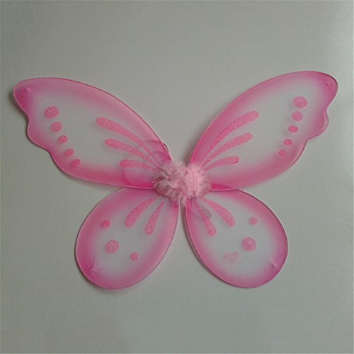 [ESHOO Princess Angel Fairy Butterfly Wings Kids Girl Halloween Fancy Dress Costume] (Angel Fancy Dress)