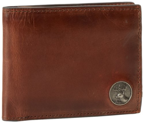 Weber's Leathers Men's Brown Billfold with Buck Concho, Brown, One Size Webers Leather