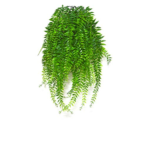 Artificial Hanging Vines Plants Fake Ivy Outdoor Plant Vine Faux Plastic Plant Wall Hangs Flowers Vines Greenery Plant for Lndoor Outside Wedding Home Garden Hanging Basket Decor - 2pcs from Antspirit