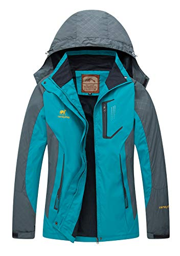 1 Fleece Hood - Women's Hooded Waterproof Jacket - Diamond Candy lightweight Softshell Casual Sportswear,X-Small,Blue