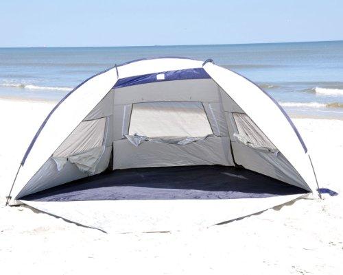Jumbo Deluxe Beach Shelter with Ventilation Panels and Door – UPF 120+, Outdoor Stuffs