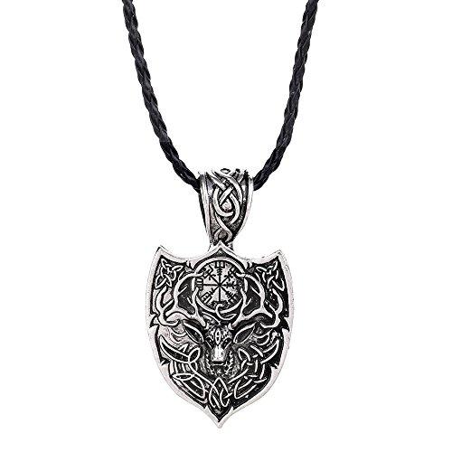 Animal Black Bracelet - Wensltd Clearance! Viking Necklace Animal Teen Men Necklace Fashion Jewelry Pendant Supernatural (I)