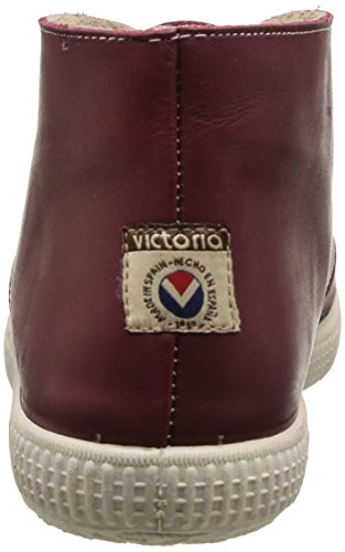 Victoria Safari Piel Tintada Pelo - Botas de cuero Unisex Rojo (burdeos)