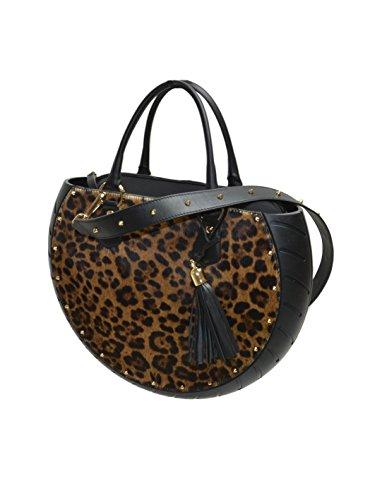 Ty's Bag, Borsa Donna TIGER-GOLD EDIZIONE LIMITATA, colore Tigrato, in Vero Cavallino e Gomma, Made in Italy