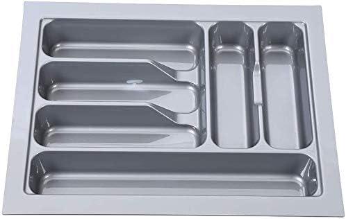 6cm 39 FANQIE Cubiertos caj/ón de los Cubiertos portacubiertos Bandeja de Almacenamiento Caja de Utensilios de Cocina para el hogar,Grey-48