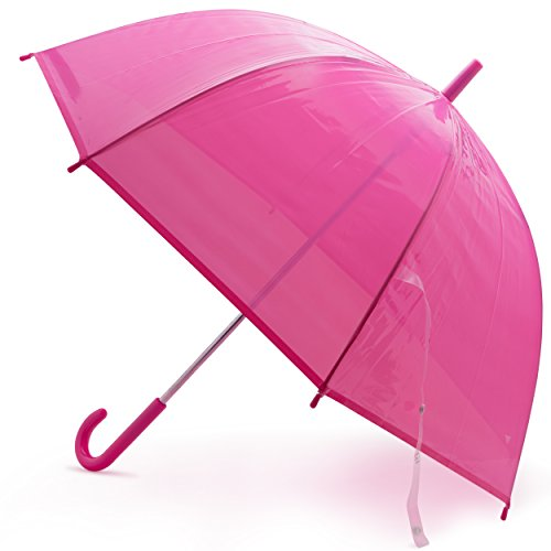 Windproof Kids Bubble Umbrella | Designed in the USA (Hot (Hot Pink Umbrellas)