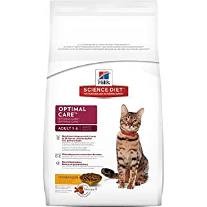 Hill's Science Diet Adult Optimal Care Dry Cat Food, 4-Pound Bag