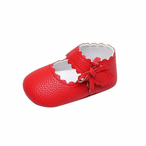 De Blanda Suela Nacido Princesa Bebe Primeros Zapatos Recién Rojo Antideslizante Pasos Niñas zfgIdq