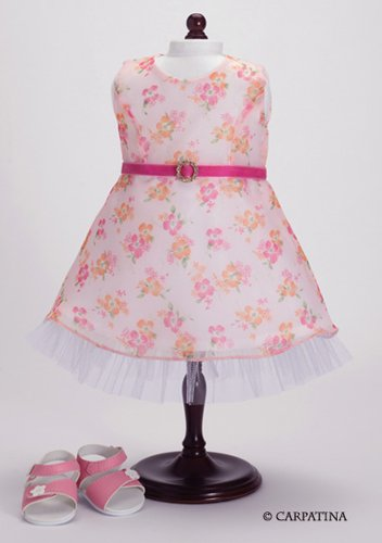 Roses & Ruffles Dress and Sandals - Fits 18
