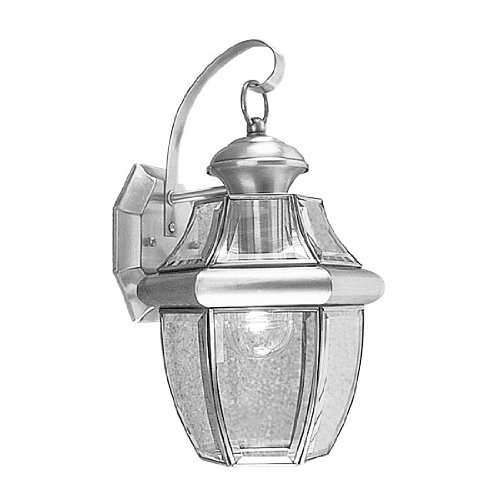 Brushed Nickel Outdoor Light Fixture - 4