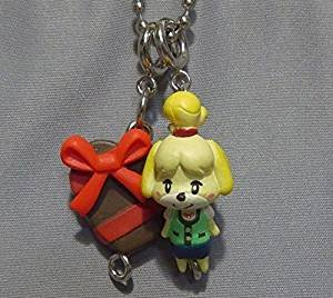 Animal Crossing Jump Out New Leaf Mascot Collection Part 2 Key Chain Figure -Shizue Isabelle & Heart (Heart 2 Figure Collection)