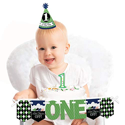 Big Dot of Happiness Kentucky Horse Derby 1st Birthday - First Birthday Boy or Girl Smash Cake Decorating Kit - High Chair Decorations