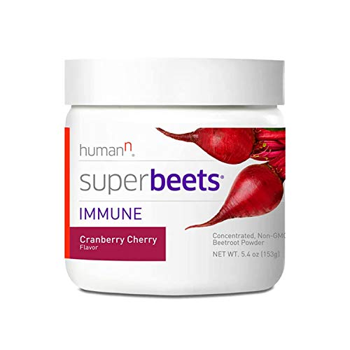 HumanN SuperBeets Immune Concentrated Non-GMO Beetroot Immune System Supporting Supplement (Cranberry Cherry, 5.4-Ounce)