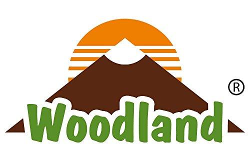 Woodland - Borsa di lusso in morbida, pelle di bufalo trattata in marrone scuro / Taupe