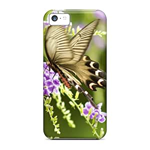 Shock Absorption Cell-phone Hard Cover For Iphone 5c (gRl18079qESA) Unique Design Nice Butterfly Pictures