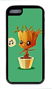 Andre-case Baby Groot Humming - Guardians of the Galaxy Design for Iphone 6 plus 5.5'' oG3qWSXDdU7 case cover in TPU Rubber Black Material