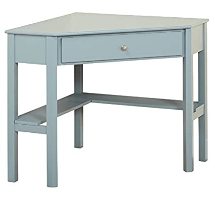 Target Marketing Systems Ellen Corner Desk with One Drawer and One Storage  Shelf (Antique Blue - Amazon.com: Target Marketing Systems Ellen Corner Desk With One