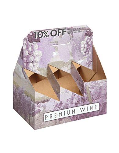 (W PACKAGING WPWC6PK 6PK Kraft/Kraft Wine Carrier, Fits Standard 750ml Wine Bottle (Pack of 25))