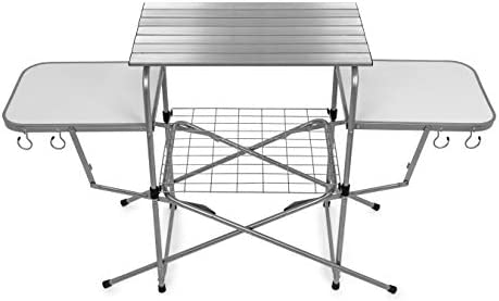 Amazon.com: Mesa de cocina para campamento, mesa de parrilla ...