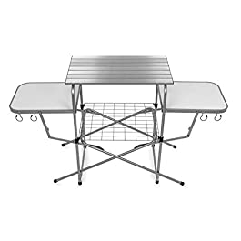 Camco Deluxe Folding Grill Table, Great for Picnics, Tailgating, Camping, RVing and Backyards; Quick Set-up and Folds…
