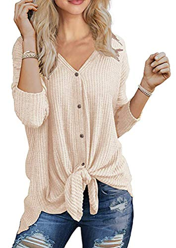 Chvity Women's 2019 Fall Lightweight Open Front Button Down Cardigan Novetly Sweater Tops Petite Size (S, -