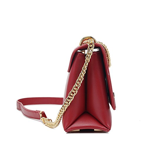 Wallet Travelbags Clutch Xuanbao Wristlet Red Purse Bag Lock Tote Shoulder Strap Crossbody Simple Square Messenger Pu Retro Bag Chain UqwqRStpx5
