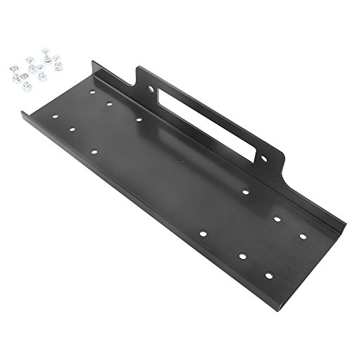 Universal Recovery Winch Mount Mounting Bracket Plate for Truck Trailer SUV Jeep