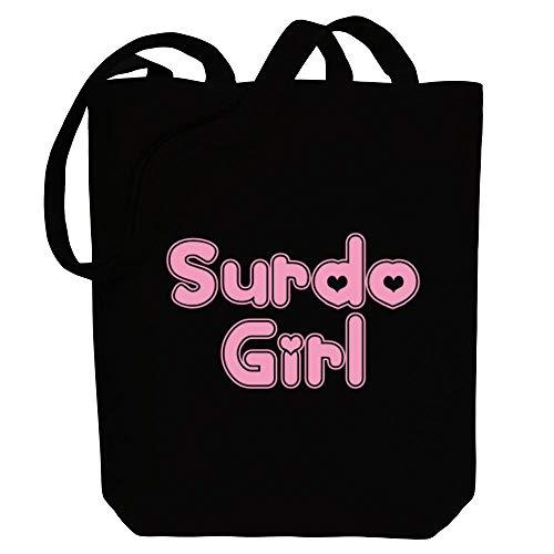 Idakoos Surdo girl Canvas Tote Bag 10.5