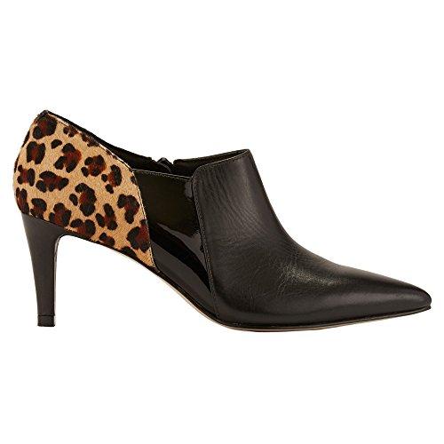 leopard Haircalf Cradles patent Leather Walking Velcro Sandal Women's Sling Austin Black Twq61xO