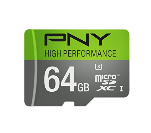 PNY U3 High Performance 64GB High Speed MicroSDXC Class 10 U