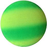 QADN 8.5 Inch Gradient Rainbow Playground Ball for Kids Soft PVC Bouncy Kick Ball for Backyard Park and Beach